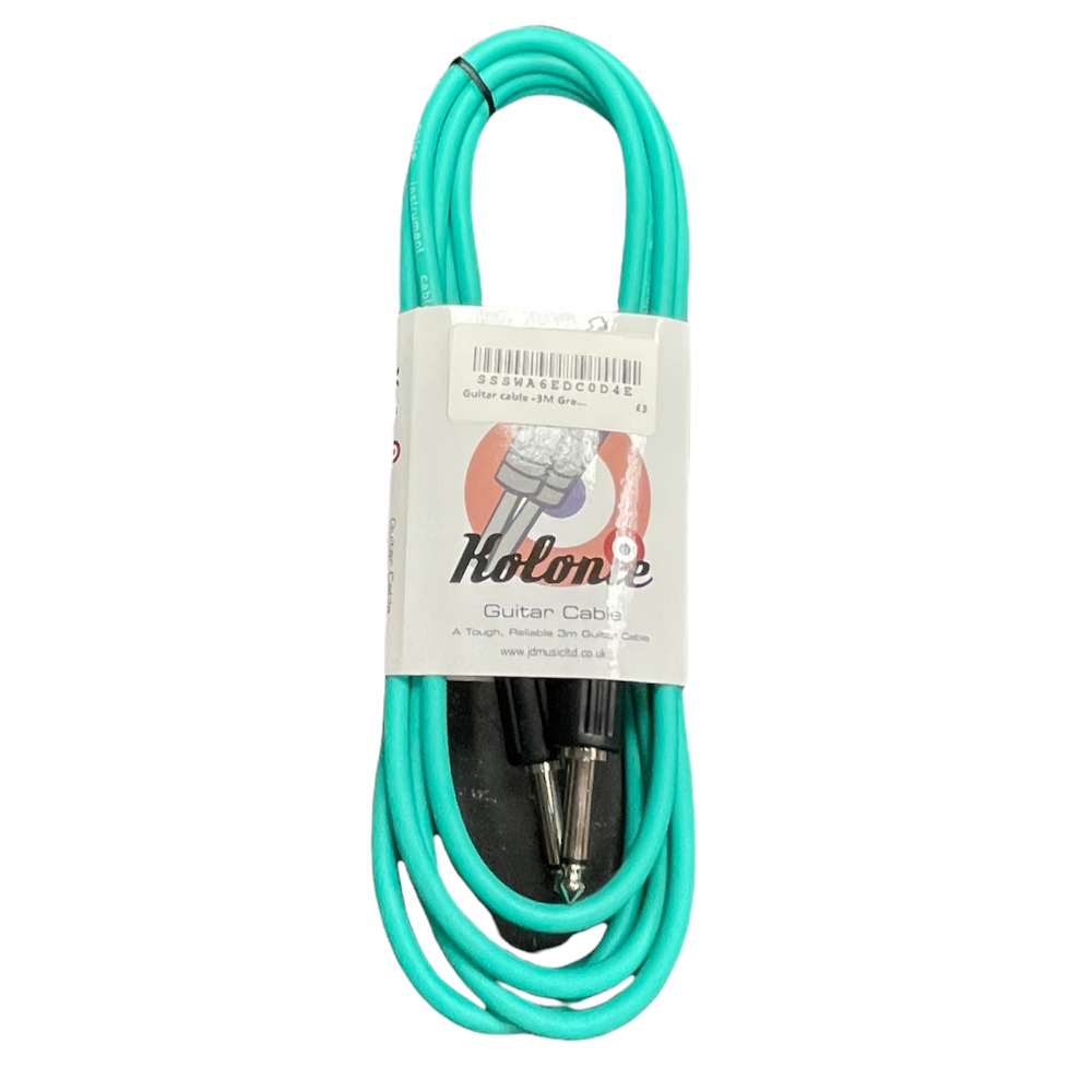 Product photo for Guitar cable -3M Green