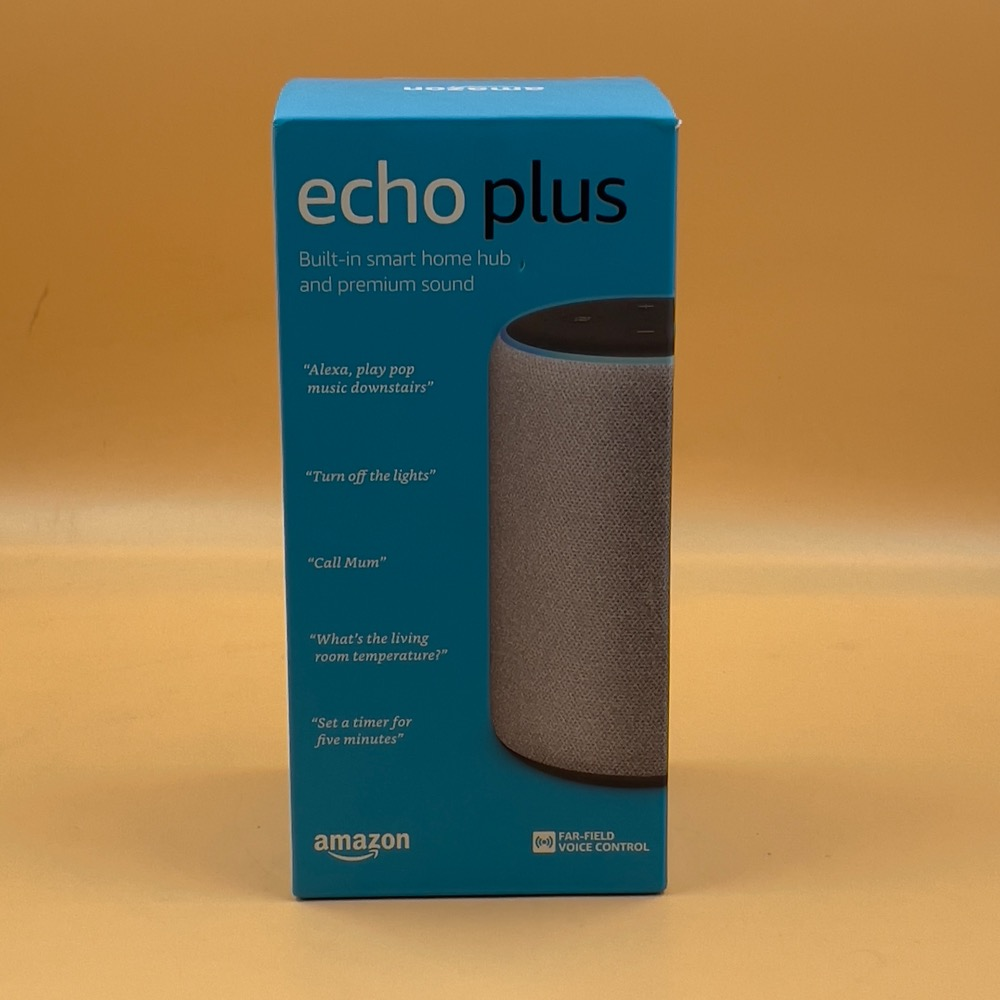 Product photo for AMAZON ECHO PLUS 2ND GEN - NEW AND SEALED