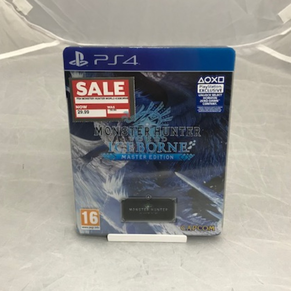 Product photo for PlayStation 4 Game Monster Hunter World: Iceborne Master Edition *SALE*