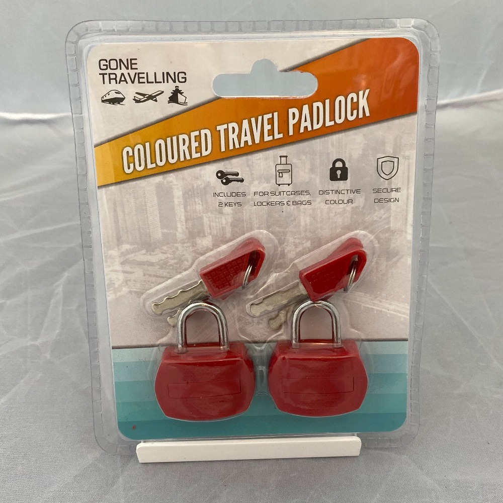 Product photo for Gone Travelling Coloured Padlock