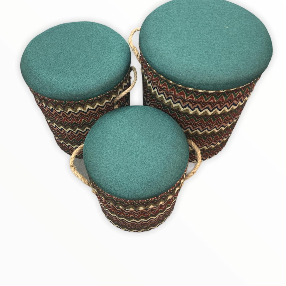 Product photo for !!Sale!! Madrid Patterned Set of 3 Stools