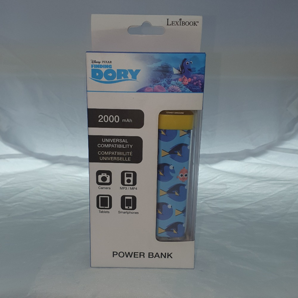 Product photo for lexibook Finding Dory 2000 mAh Power Bank