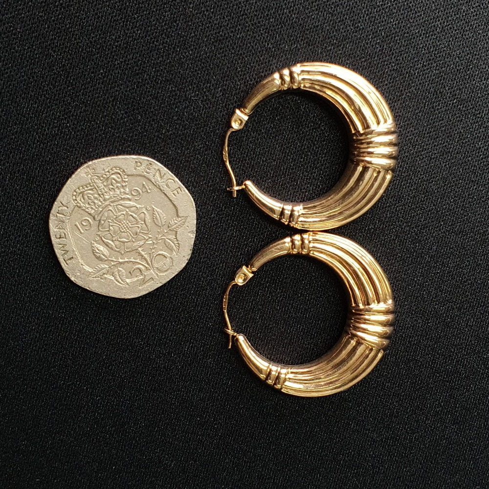 Product photo for 2.80g 9ct Yellow Gold Hoop Earrings