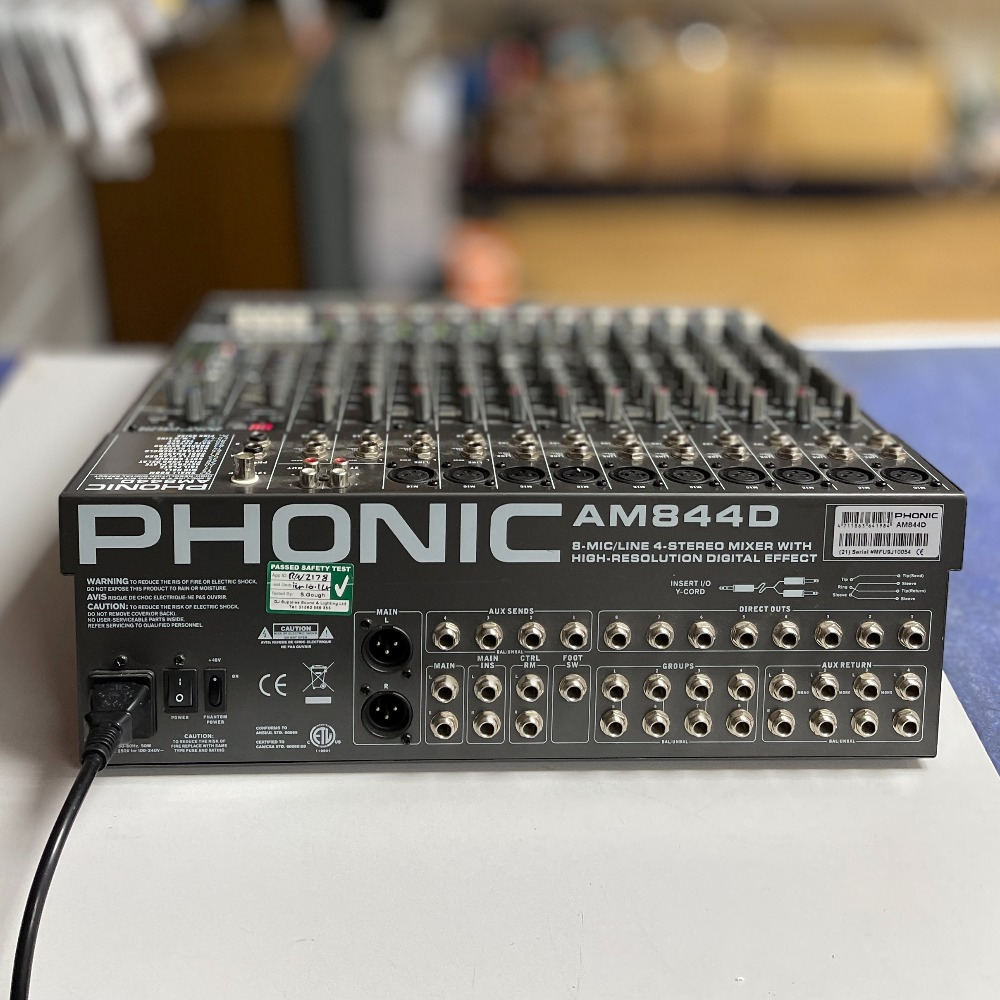 Product photo for Phonic am844d Mixer