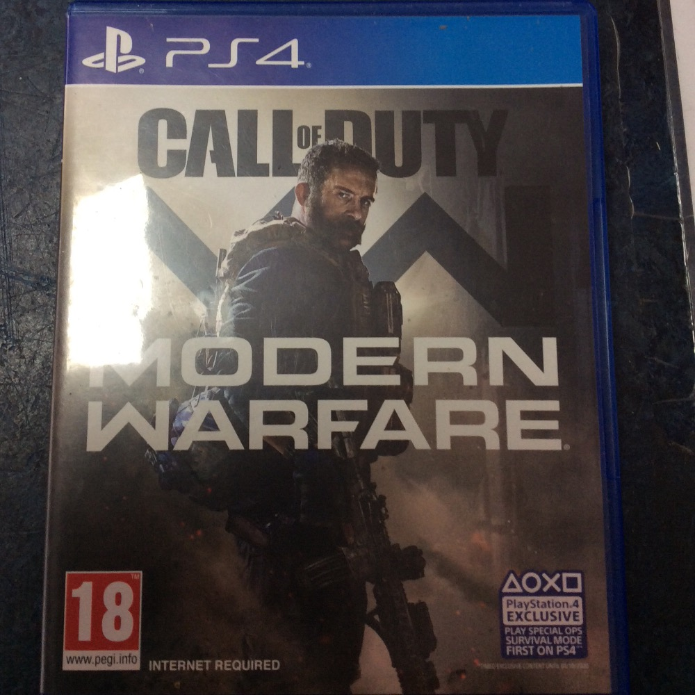 Product photo for PS4 Game modern warfare
