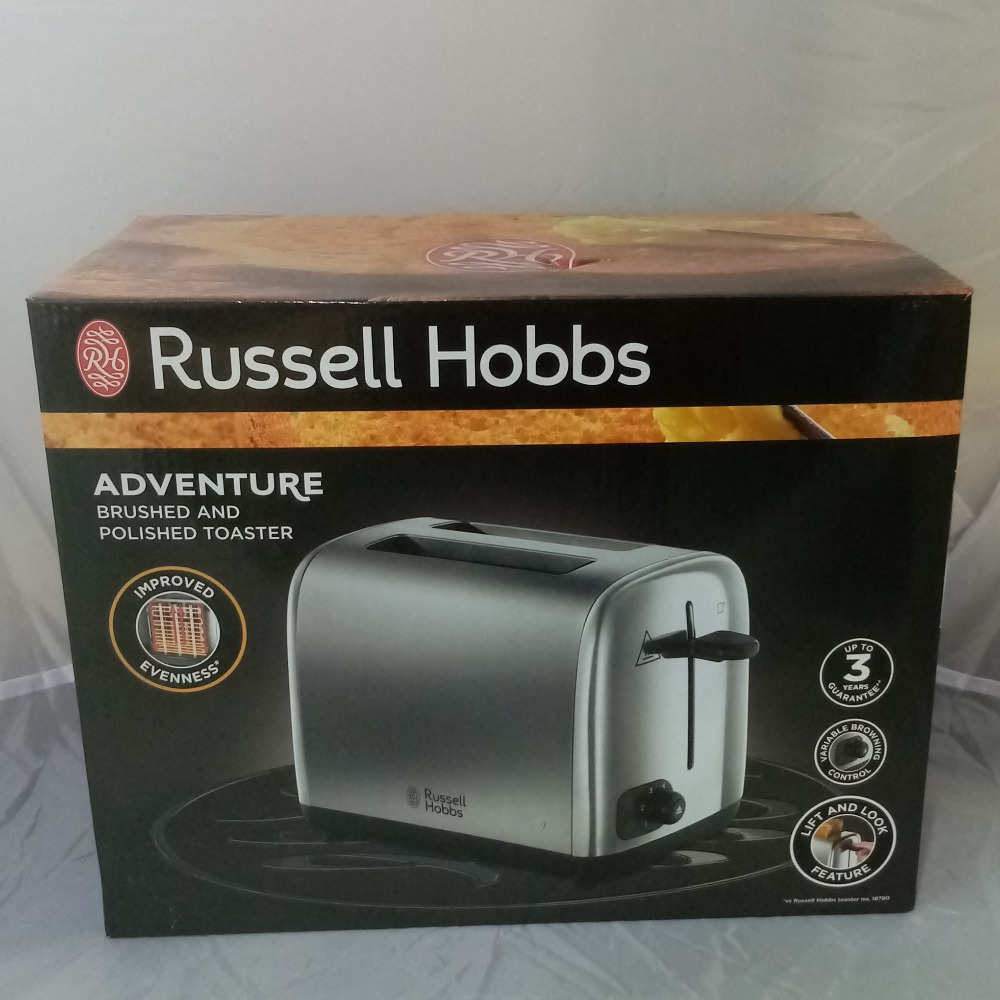 Product photo for Adventure Brushed And Polished Toaster Russell Hobbs