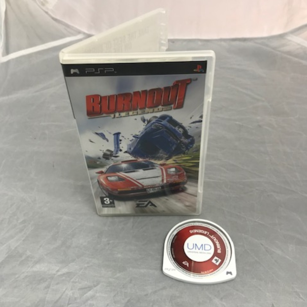 Product photo for PSP Game Burnout Legends