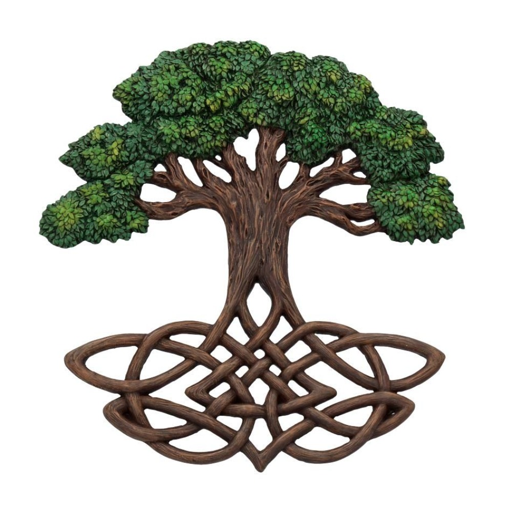 Product photo for Tree of Life Wall Plaque (Painted) 33cm