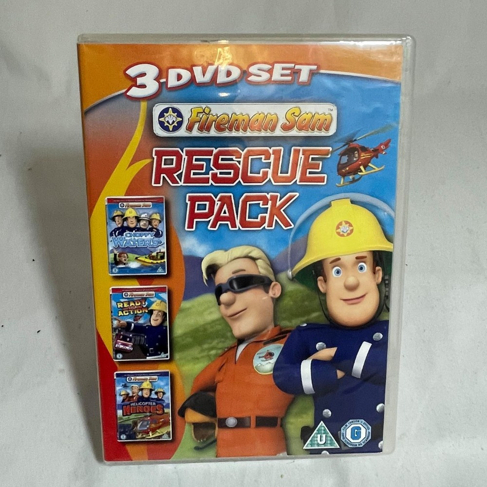 Product photo for Fireman Sam Rescue Pack - 3 DVD set