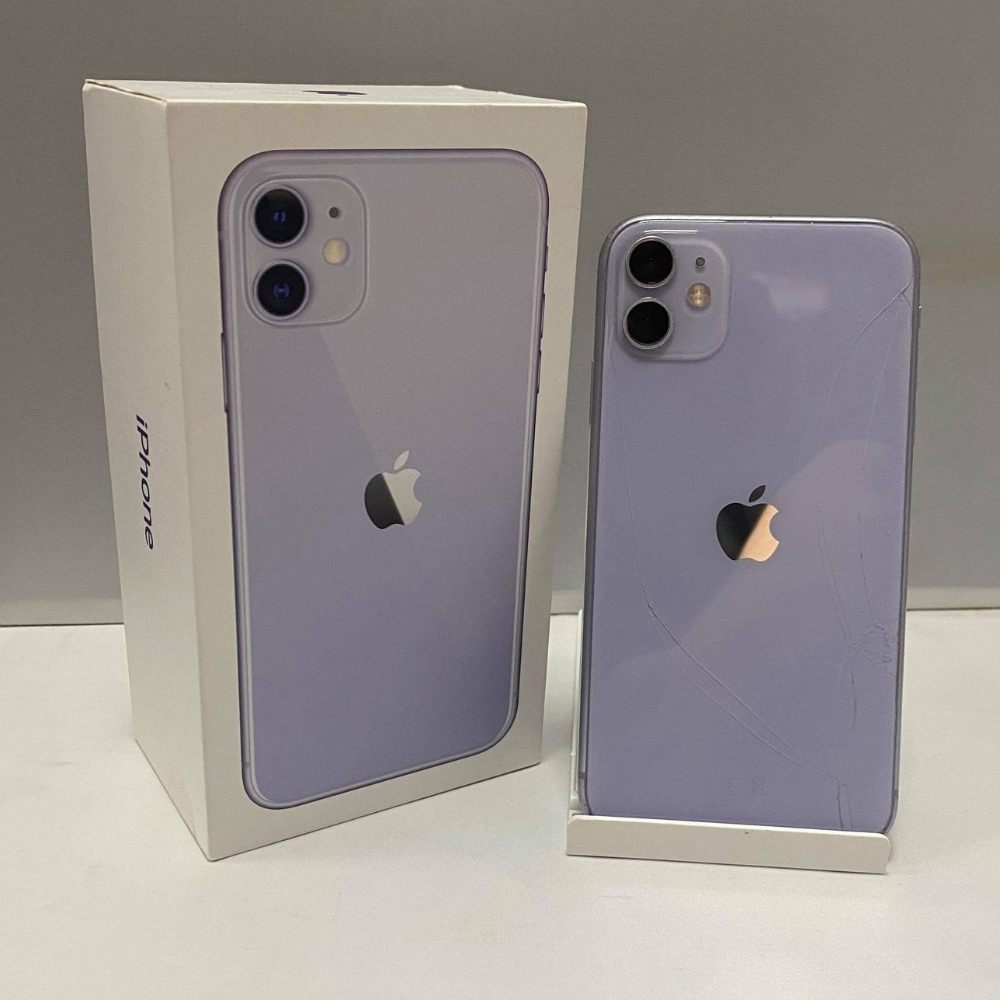 Product photo for Apple iPhone 11 - Purple - 64GB - Cracked