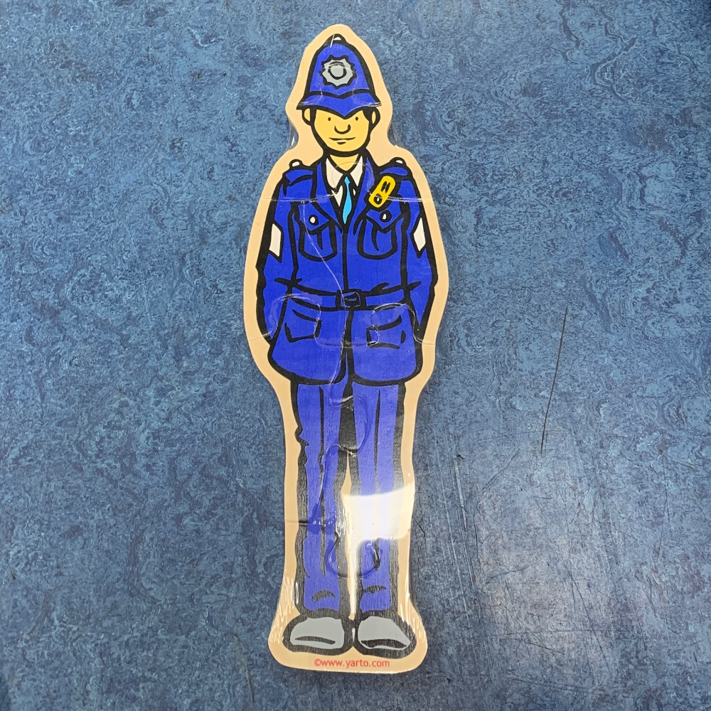 Product photo for Yarto Yarto Wooden Puzzle Policeman 7pc Brand new