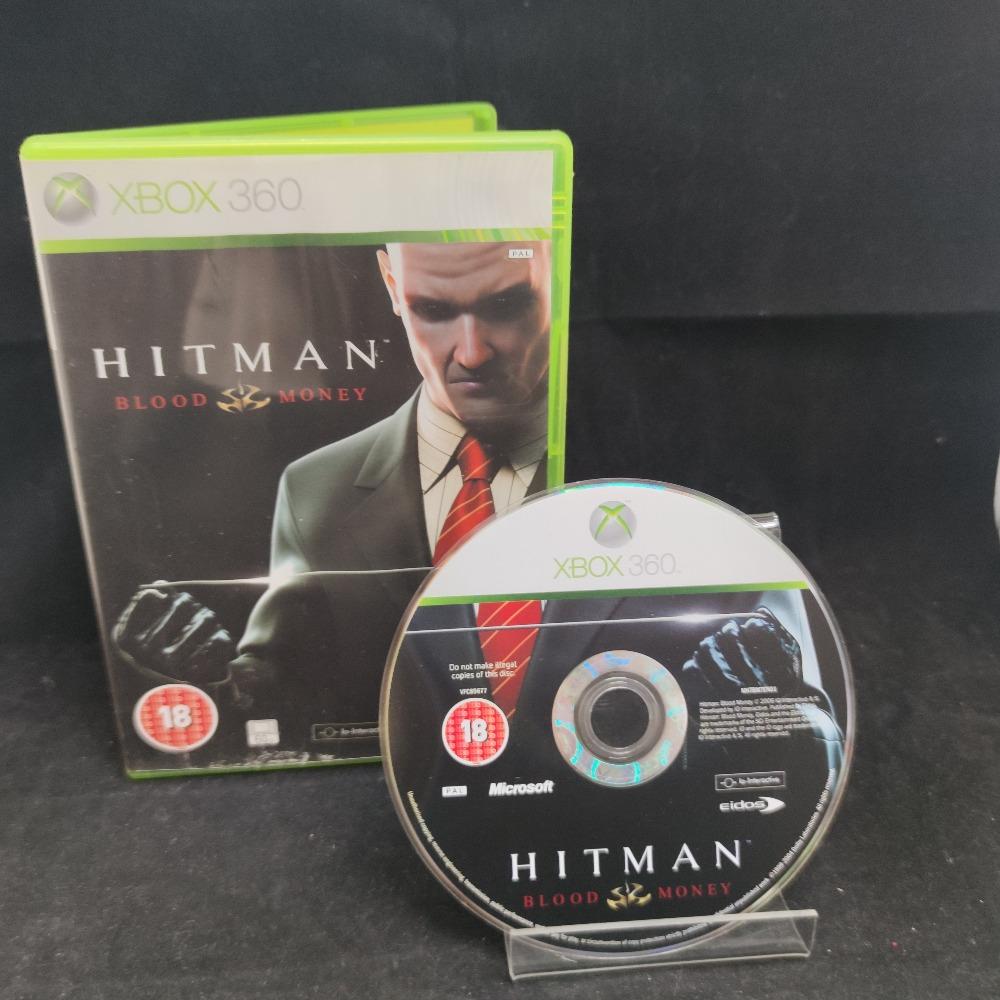 Product photo for  Microsoft Xbox 360 game Hitman Blood Money