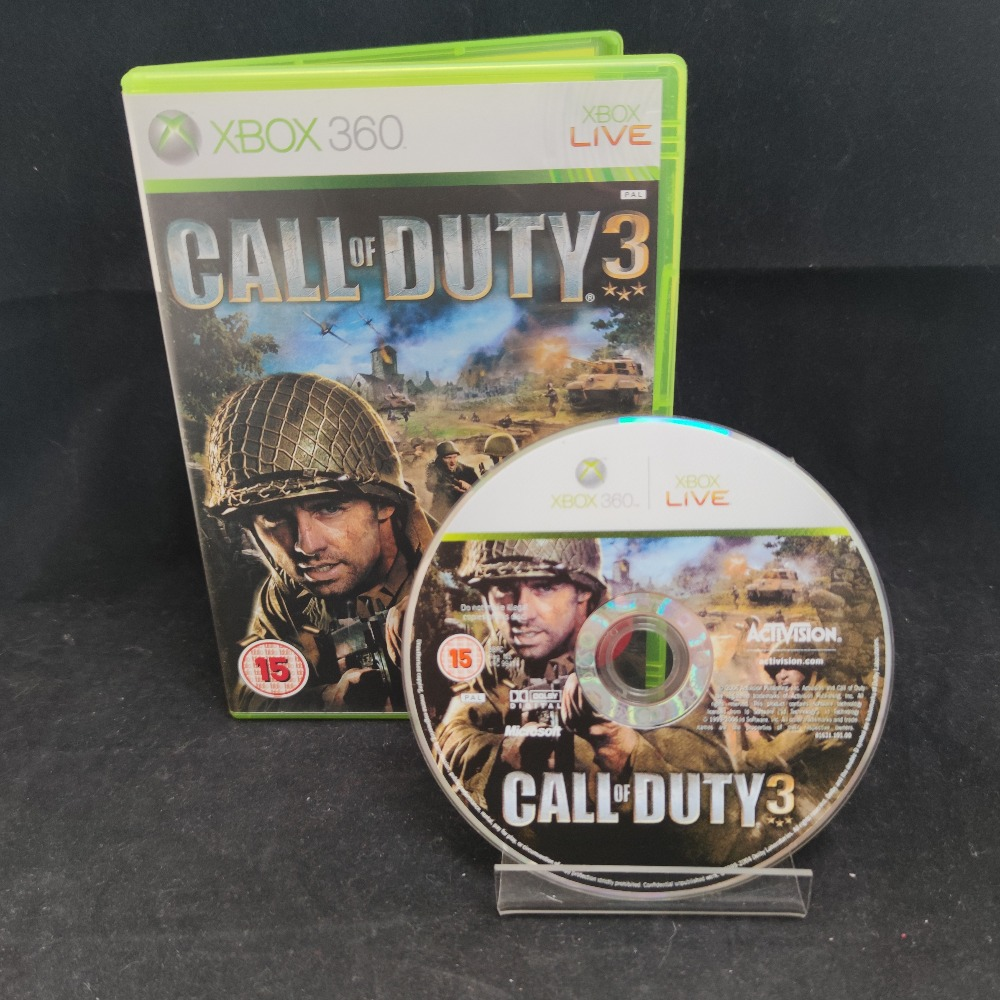 Product photo for  Microsoft Xbox 360 game Call of Duty 3