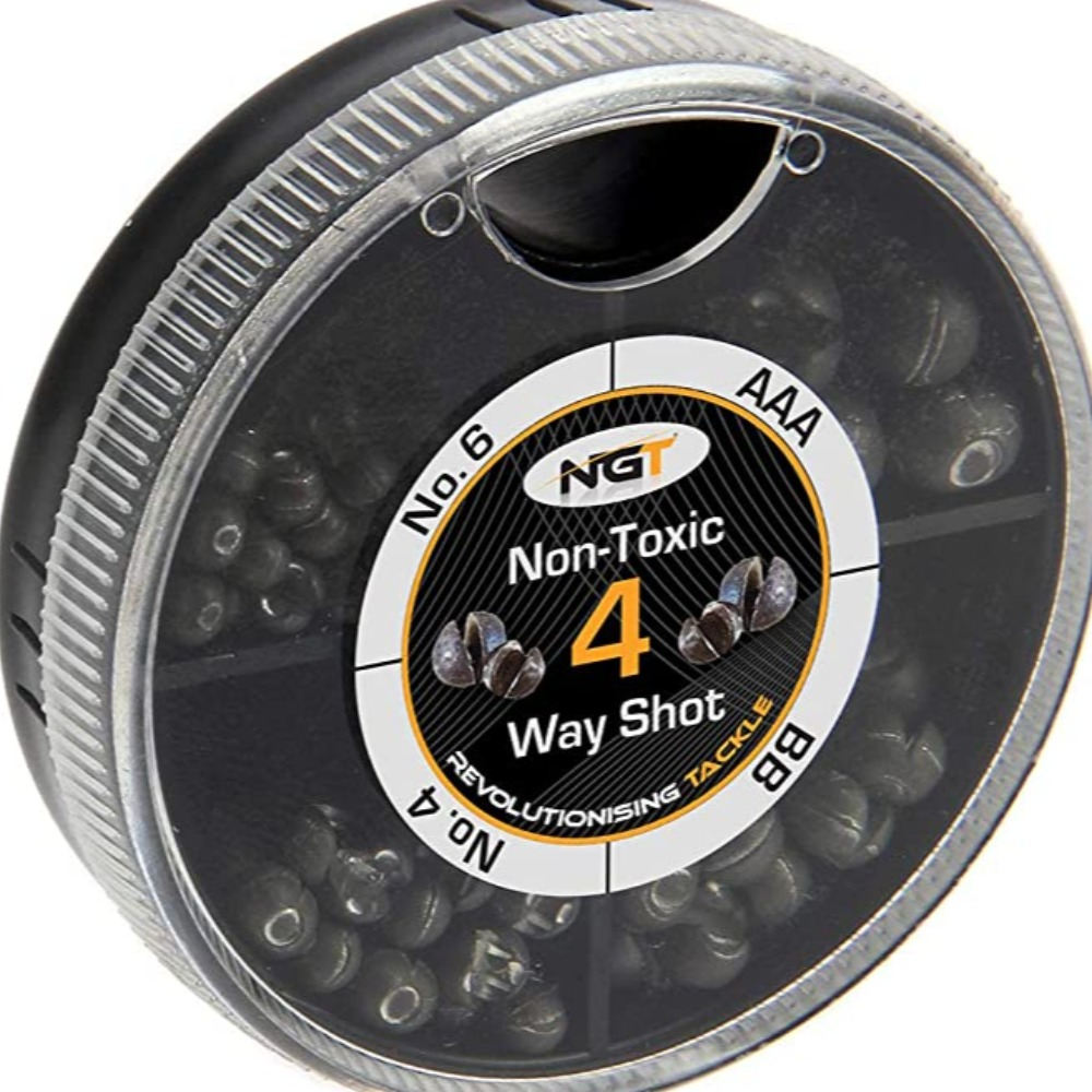Product photo for Ngt Fishing 4 Way Split Shot (Non-toxic)