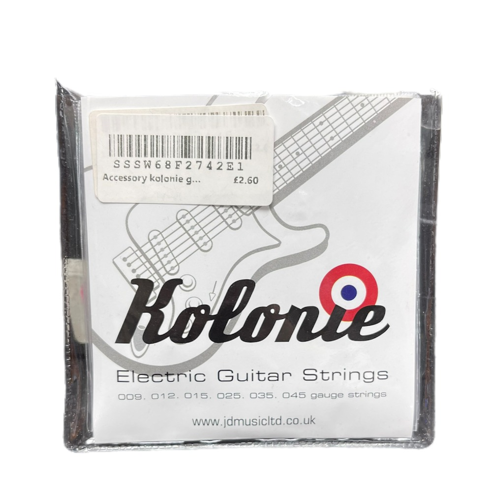 Product photo for Accessory kolonie guitar strings - electric 010 gauge