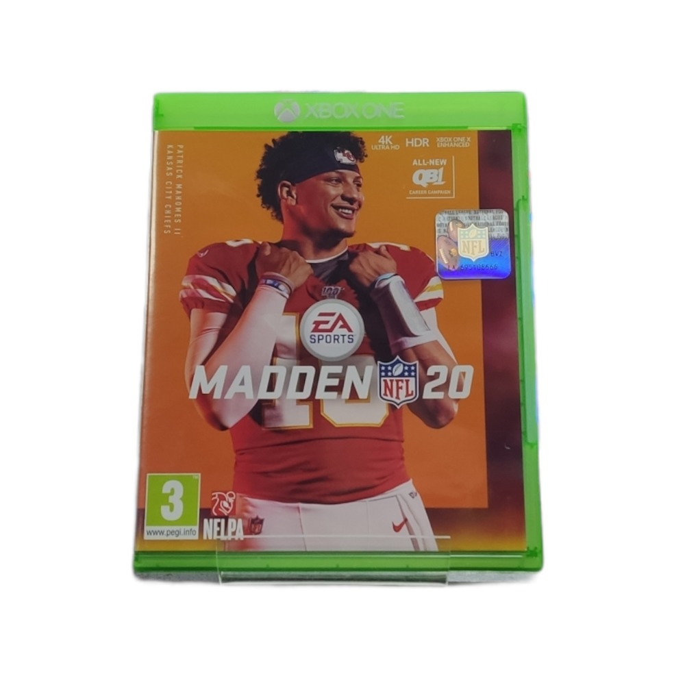 Product photo for  Microsoft Xbox one game Madden 20