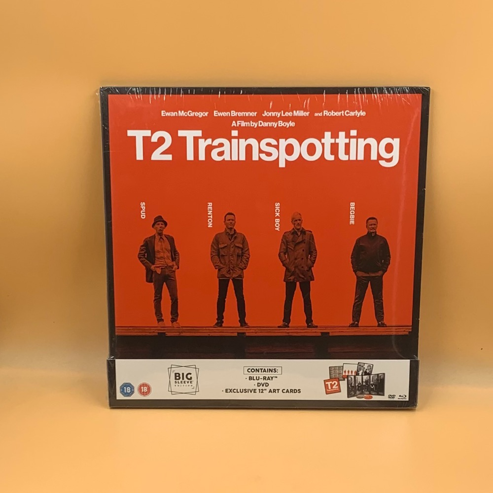 Product photo for Blu-ray T2 TRAINSPOTTING BIG SLEEVE EDITION - BRAND NEW AND SEALED