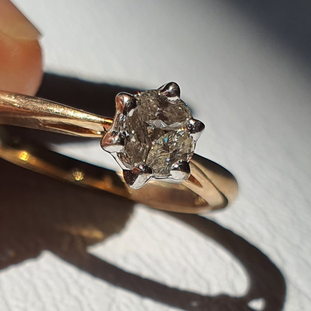 Product photo for 9ct Yellow Gold Diamond Engagement Ring