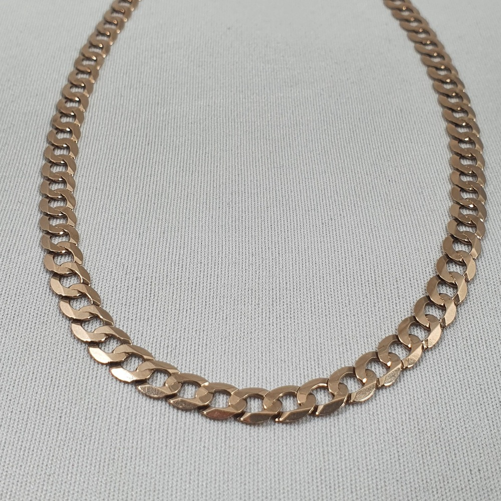 Product photo for 9ct Yellow Gold Curb Chain 19 inches