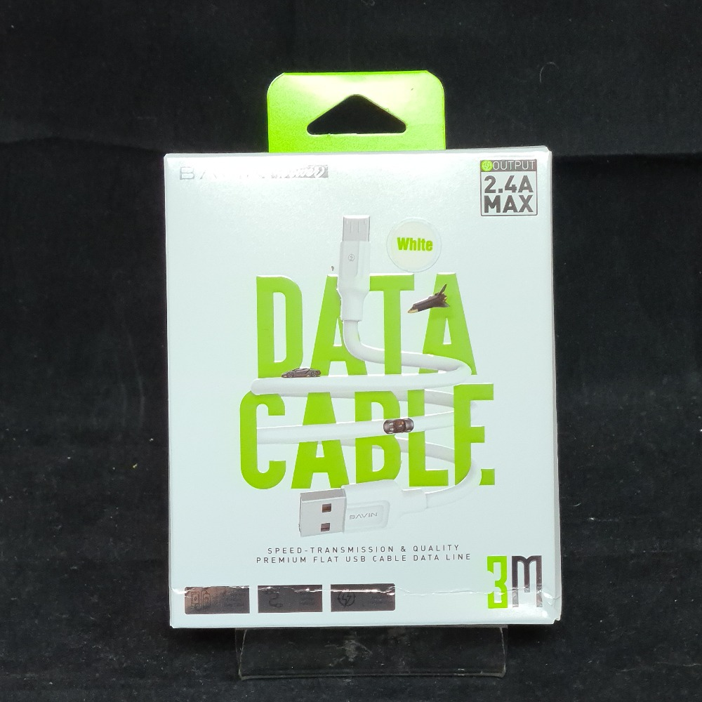 Product photo for Bavin 3m Micro USB Data Cable