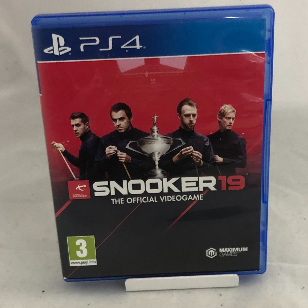 Product photo for Sony PlayStation 4 Snooker 19: The Official Video Game (PS4)