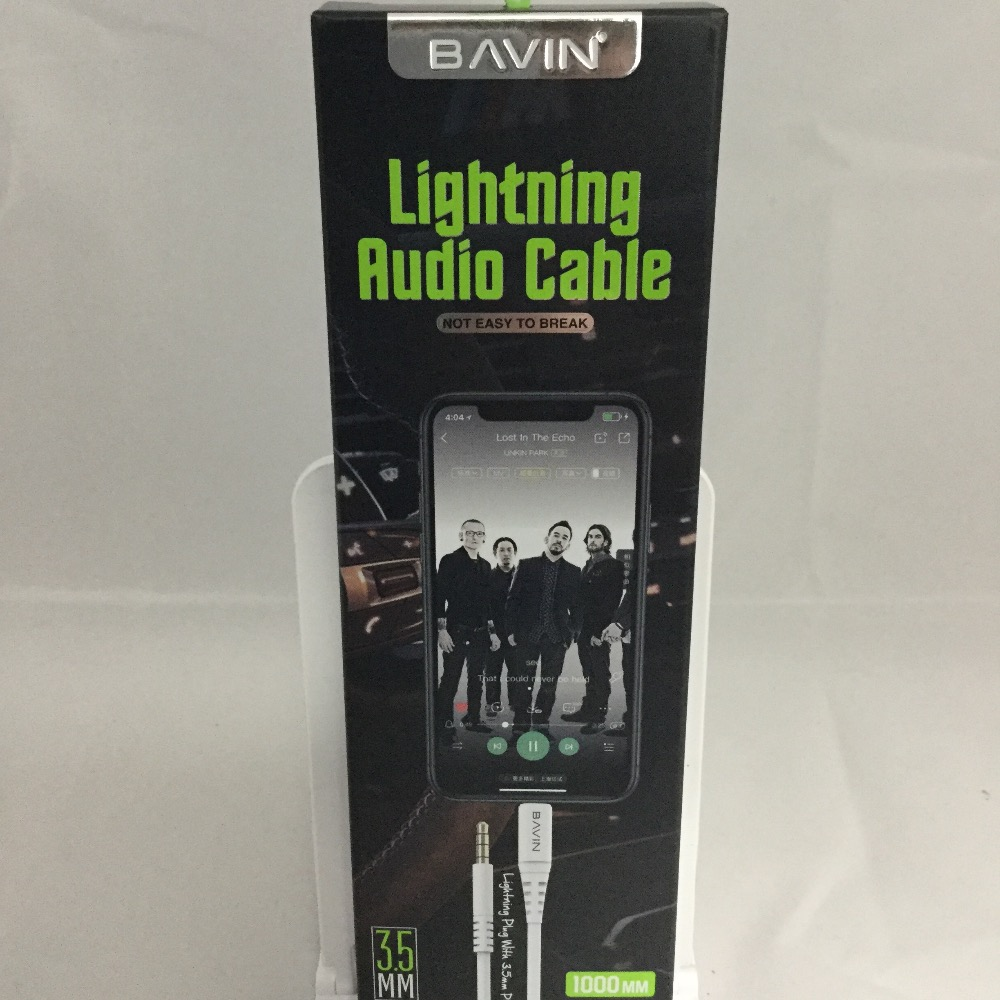 Product photo for Bavin Bavin 3.5mm to lightning cable 1m
