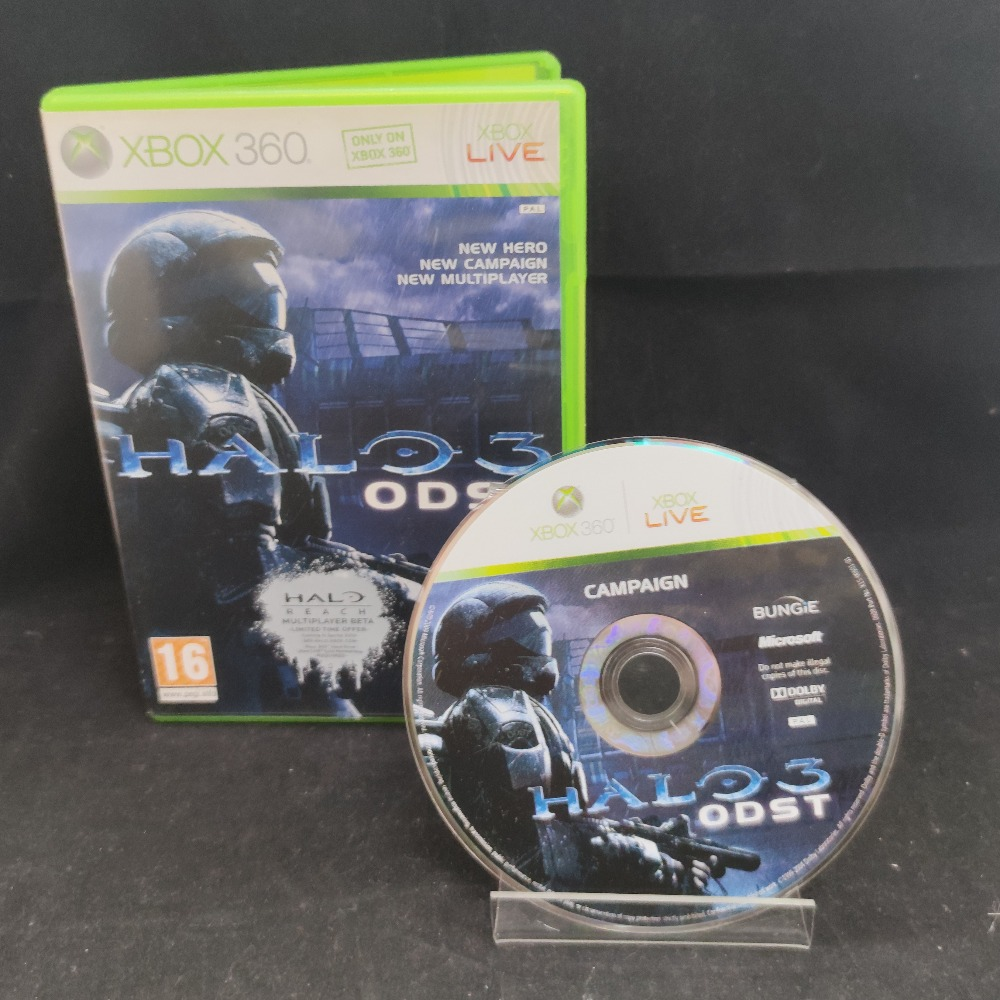 Product photo for  Microsoft Xbox 360 game Halo 3 ODST